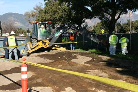An incident at a construction site at Goleta Valley Hospital led to 200 gallons of diesel fuel being spilt.