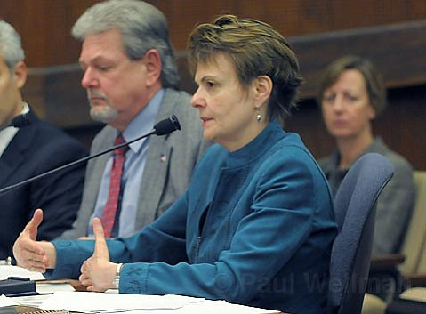 <strong>Defending the department:</strong>  County Mental Health Director Dr. Ann Detrick has spent much of her two years in Santa Barbara changing, and hopefully improving, department practices. She gave the Board of Supervisors an extensive, if not complex, update on Tuesday.