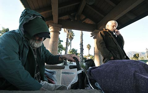 <strong>Cost offset:</strong>  Prodded by activists concerned that seven homeless people have died in as many weeks — plus 28 last year — the county supervisors scrounged up $40,000 to help defray costs incurred by South Coast churches that have opened their doors as emergency warming centers during the winter rains.