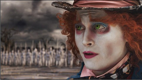 Johnny Depp stars as The Mad Hatter in <em>Alice in Wonderland</em>.