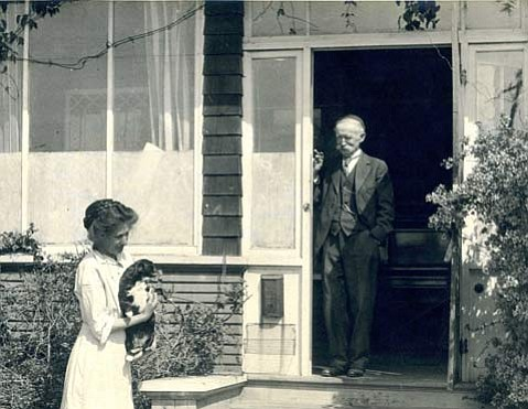 Ludmilla and Thaddeus Welch at their Santa Barbara home.