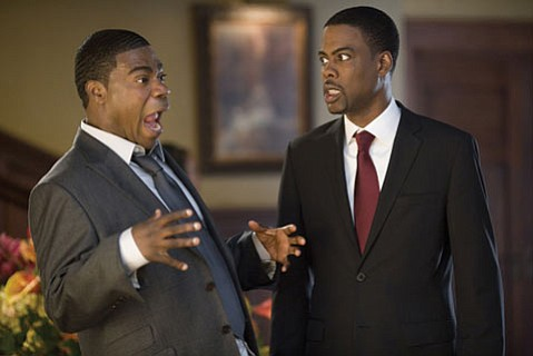 <strong>AS I LAY SIGHING: </strong> SNL vets Tracey Morgan (left) and Chris Rock fail to rescue <em>Death at a Funeral</em> from flatlining with their combined comedic chops in this re-make of the British film of the same name.