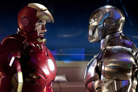 Robery Downey Jr. shines as Tony Stark in <em>Iron Man 2</em>, a slick blockbuster sequel that is equal parts tongue-in-cheek humor and teched-out action.