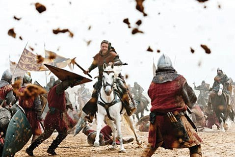 Russell Crowe brings his trademark grit and gravitas to the role of Robin Hood in Ridley Scott's take on the titular folk hero's beginnings.