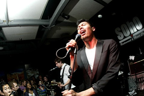 The Temper Trap's Dougy Mandagi serenaded a sold-out crowd during the band's Thursday-night stop at SOhO.