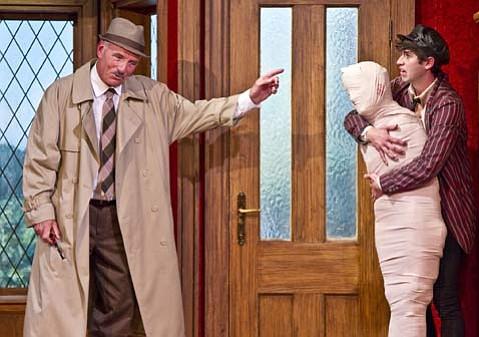 Ned Schmidtke as Truscott and Wyatt Fenner as Dennis (l to r).