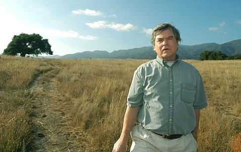 """<strong>MAN ON NEW MISSION:</strong>  Years ago, Mark Holmgren (pictured here in 2004) would take people to the San Marcos Foothills to show off the 377-acre property's tremendous display of native flora and fauna and advocate against its overdevelopment. But today, three years after a deal was hatched to preserve most of the land, Holmgren finds himself fighting invasive weeds, which he calls the """"cream of the exotic crop,"""" that are choking out the native plants and affecting the animal habitat. Meanwhile, the recession is both stalling the approved development and making it hard for the County Parks Department to handle their responsibilities."""