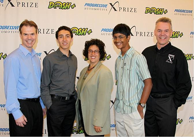 From left to right: Kevin Schantz, Jake Moghtader, Helene Schnieder, Kelvin Noronha, and Mitch Aiken