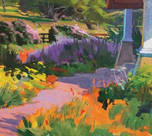 """""""East Porch, Spring"""" by Marcia Burtt"""