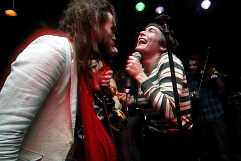 Edward Sharpe's Alex Ebert (left) and Jade Castrinos (right) return to Santa Barbara this Friday for the band's sold-out show at the Lobero Theatre.