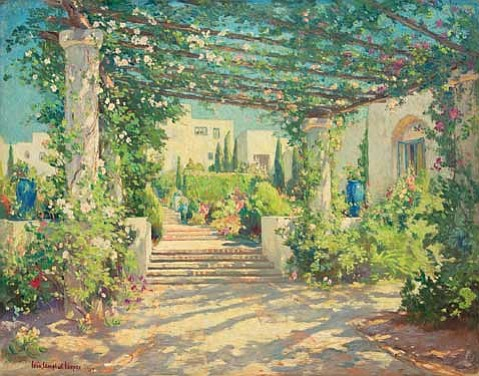 """Colin Campbell Cooper's """"The Terrace in Samarkand"""" (1927)."""