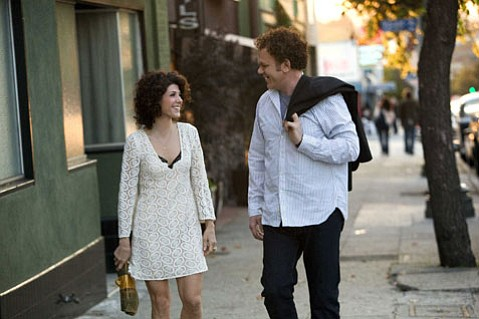 <strong>LOVE INTERRUPTED:</strong>  <em>Cyrus</em> stars Marisa Tomei (left) and John C. Reilly (right) as potential love interests; their fledgling relationship is interrupted by Tomei's on-screen son, Cyrus, played by Jonah Hill.