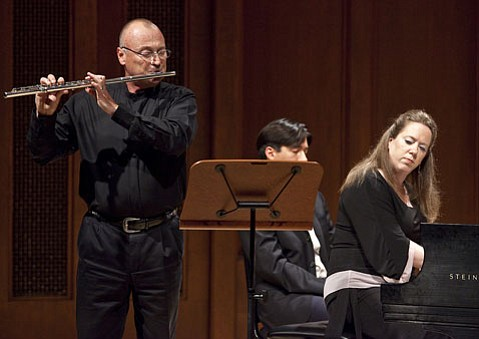 Natasha Kislenko and Richie Hawley performed a sonata by Francis Poulenc.