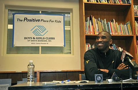 Kobe Bryant's charity luncheon at the Boys & Girls Club of Santa Barbara