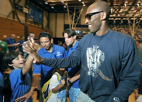 Kobe Bryant's recent basketball camp at UCSB attracted 650 youth players.