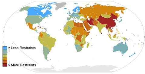 2008 Press Freedom Rankings