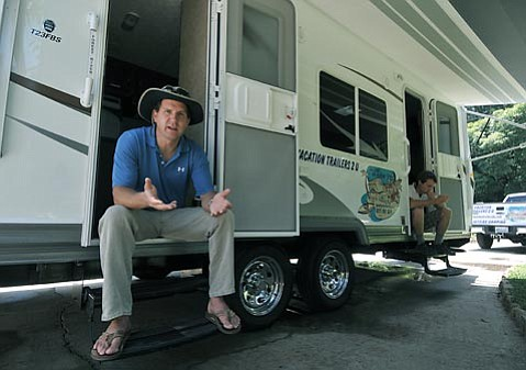 "<strong>MAD ABOUT MISINFORMATION:</strong>  When Jason Kimbrell (pictured left, with working partner James Ware) brought his Vacation Trailers 2 U (VT2U) to town and won the permit to deliver RVs to state parks in S.B. County, he had no idea that Earl's RV of Lompoc had been doing the same service for 20-plus years. But after jumping through the correct hoops and earning the exclusive right to do business at El Capitán, Refugio, and other beaches, Kimbrell is now angry that Earl's RV owner Brad Pellegrin (who did not return requests for a photograph) is painting VT2U out to be the bad guys. ""I'm still referring customers to Earl's and the guy has never even responded to calls,"" said Kimbrell, who also went to make peace with Pellegrin in person. ""It's just so backward."""