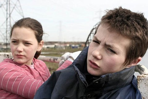 <strong>DUBLINERS:</strong>  In <em>Kisses</em>, two hard-luck kids, played by Kelly O'Neill (left) and Shane Curry, journey through Dublin to escape the harsh realities of their home lives.
