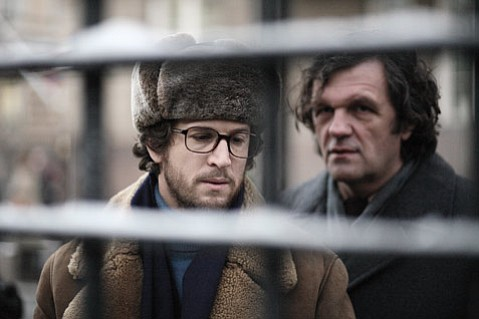 <strong>FAREWELL, MY CO-CONSPIRATOR:</strong>  Emir Kusturica (right) plays a KGB spy who leaks information to a low-level French intelligence worker (Guillaume Canet) in <em>Farewell</em>.