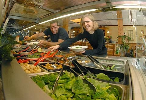 Savoy Truffle owner Paul Shields (left) and manager Corrie Ward know where the best salad bar in town is. File photo from Santa Barbara Independent Best Of Readers Poll 2007