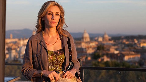 <strong>SOUL-SEARCHER:</strong>  In <em>Eat Pray Love</em>, Julia Roberts plays a woman who heads east on a quest for good food, inner peace, and love.