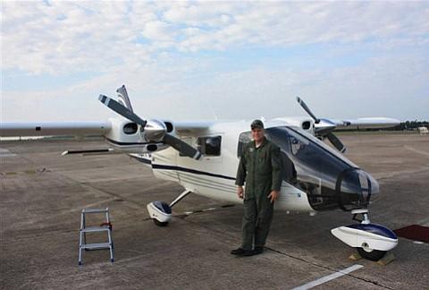 DFG Warden-Pilot Gary Schales does a preflight inspection before every flight.
