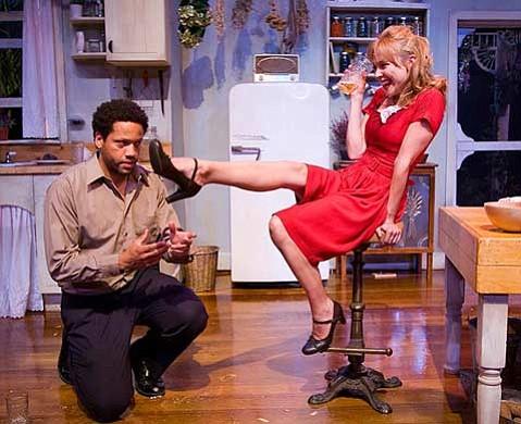 Chuma Gault and Tracy Middendorf in Santa Barbara Theatre's <em>Miss Julie</em> (2007).