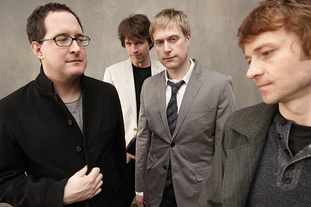 From left to right: Craig Finn, Galen Polivka, Tad Kubler, and Bobby Drake.