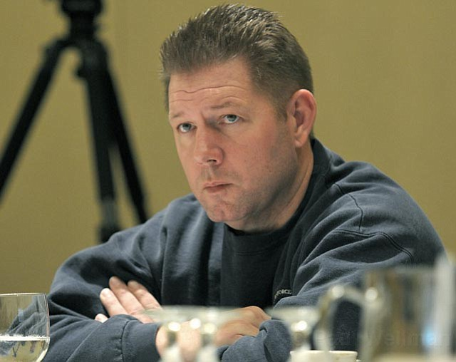<strong>MIXED MESSAGES:</strong>  Sgt. Mike McGrew contends City Administrator Jim Armstrong isn't giving the council the full picture of how much money the city really has, but councilmembers are skeptical that Armstrong has hidden $116 million, as the police union contends.