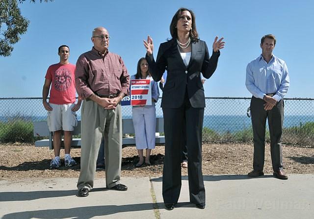 Kamala Harris campaigns in Santa Barbara on Friday, September 10