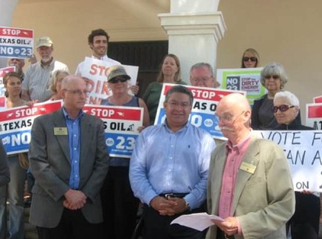 Grant House, Salud Carbajal, and Ed Easton campaign against Prop 23