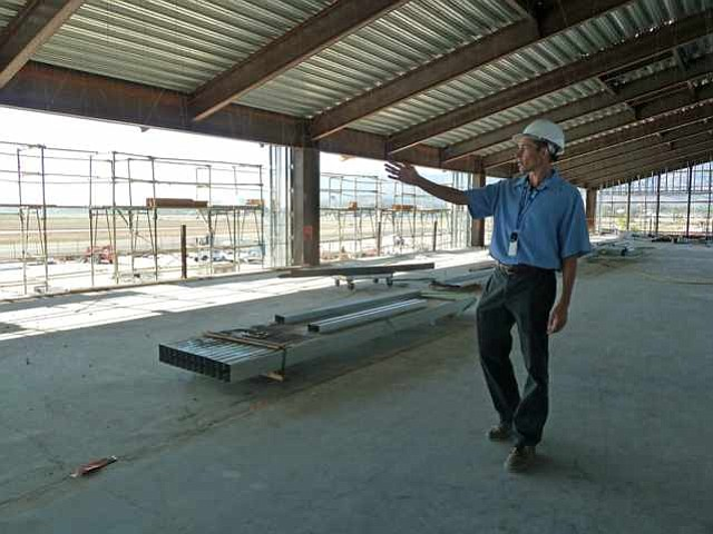 Airport Project Manager Leif Reynolds discusses the ongoing renovations at the new Santa Barbara Airport terminal currently under way.