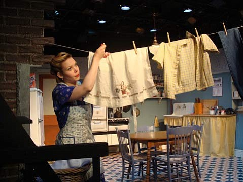 Phoenix Vaughn plays May, the restless woman at the center of Alan Brody's <em>The Housewives of Mannheim</em>.