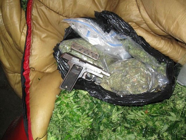 Weed and weapons seized during Wednesday's raid