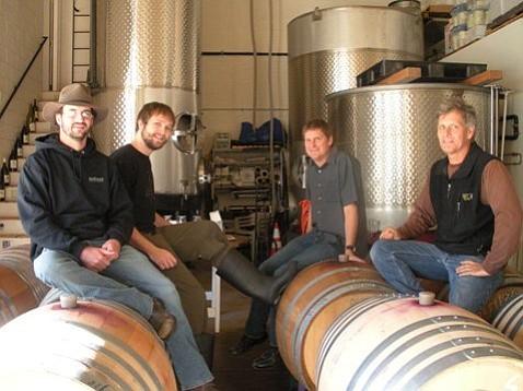 Right to left: Craig Jaffurs, Dave Yates, Matt Brady, Chris Broomell