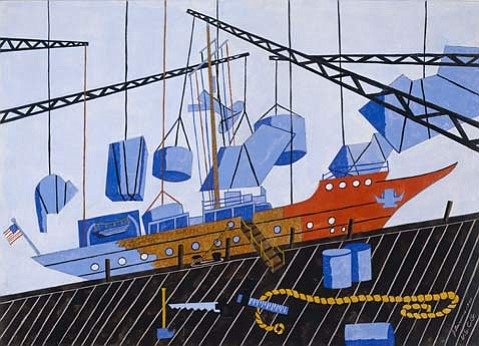 "Jacob Lawrence's ""Decommissioning the Sea Cloud"" (1944)."