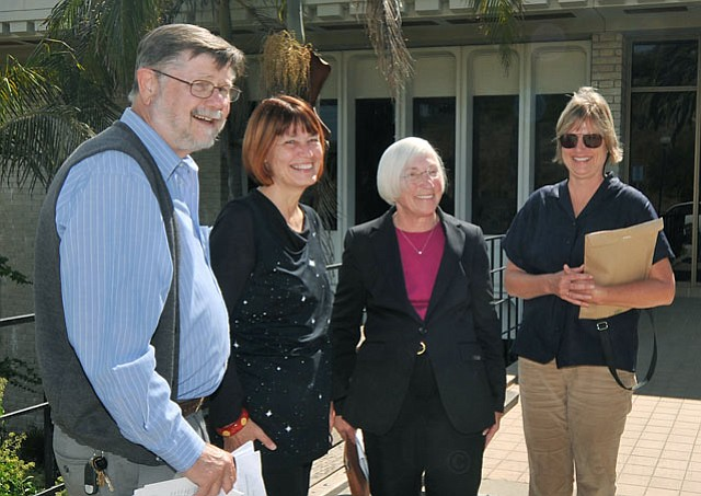 left to right:  Peter Haslund, Marsha Croninger, Marty Blum, and Lisa Macker.