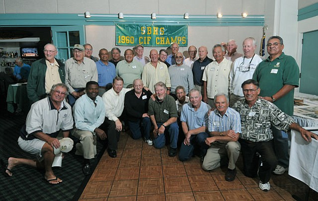 The Santa Barbara High School 1960 CIF football champs gathered to reconnect and cheer on the Dons.