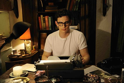 <strong>BEAT IT:</strong>  James Franco (right) plays Allen Ginsberg in <em>Howl</em>, an A-for-effort filmic take on the beat poet's epic and infamous poem.