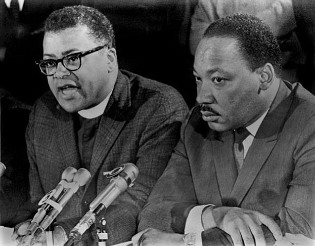James Lawson (left) with Dr. Martin Luther King, Jr.