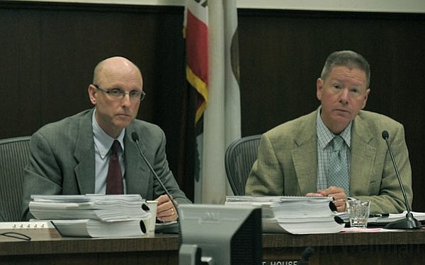 City Council members Grant House (left) and Dale Francisco