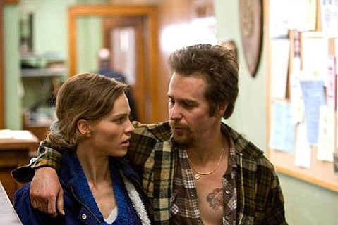 <strong>Legal Certainty:</strong>  A failed struggle to rise above mediocre production values diminishes the justice-done-right feature <em>Conviction</em>, starring Hilary Swank and Sam Rockwell.