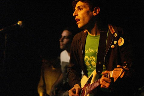 Frontman Kip Berman led his Pains of Being Pure at Heart through a buoyant and synth-filled late-night set at SOhO.
