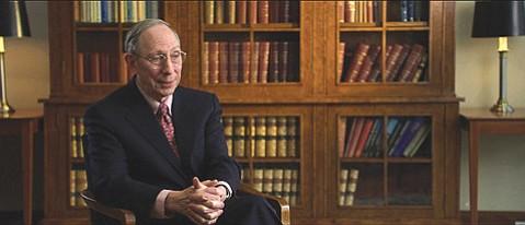 Professor Samuel Hayes's testimony helped illuminate the nation as well as director Charles Ferguson's <em>Inside Job</em>, an examination of the 2008 financial meltdown.