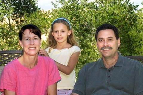 Helen, Mia and John Falcone