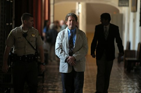 Corey Lyons leaves the courthouse in handcuffs July 2, 2009