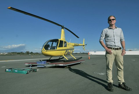 Channel Islands Helicopters' owner, pilot, and mechanic Dan Casey.
