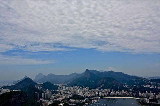 """This view of Rio de Janeiro from atop Pão de Açucar inspired my mom to compare the city's beauty to Paris, saying """"Paris is just architecture and a river. But look at all these mountains and rocks!"""""""