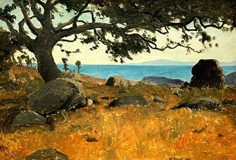 "Lockwood De Forest's ""Santa Barbaras Channel Islands Through Oak""."