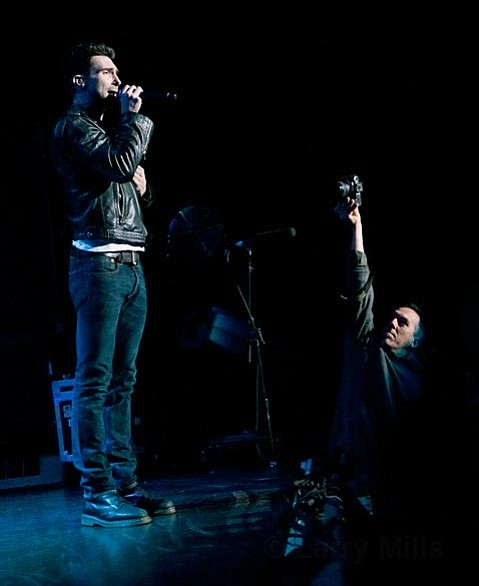Indy staff photographer Paul Wellman getting up close with Maroon 5 at the Santa Barbara Bowl in 2010